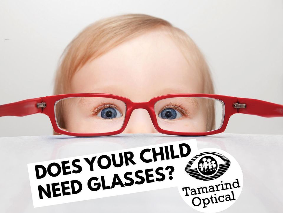 Glasses for children are now in stock at Tamarind Optical in Sydney and Glace Bay NS.