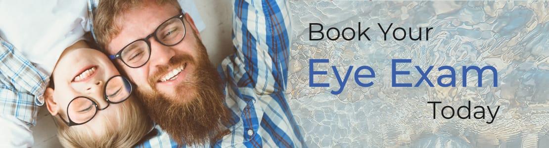 Book and eye exam
